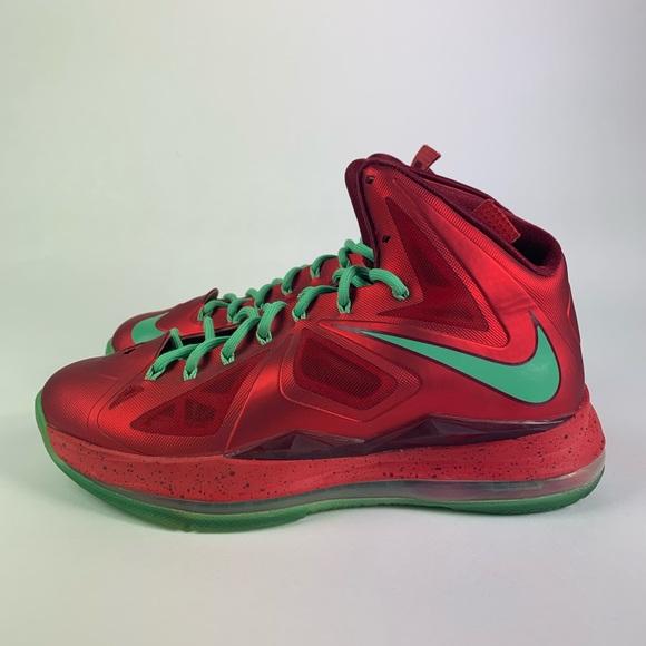 Nike Shoes Christmas Lebron 10 Size 8 Poshmark